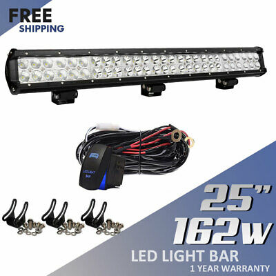 25Inch 162W Led Light Bar Spot Flood For Offroad Jeep Truck Tractor Driving Lamp