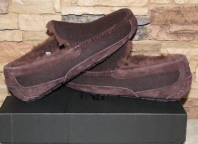 NIB UGG Men s ASCOT Wool UGGPure Lined Slip On Moccasin Slippers STOUT 14 61d0544ce