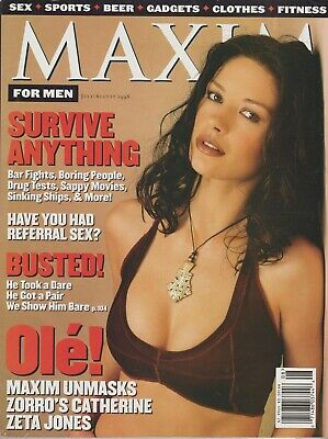 MAXIM Magazine #10 July - August 1998 Zorro Star Catherine Zeta Jones!!!