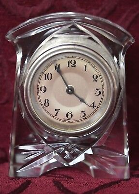 Gorgeous Vintage German Mauthe Crystal Clock - Deco