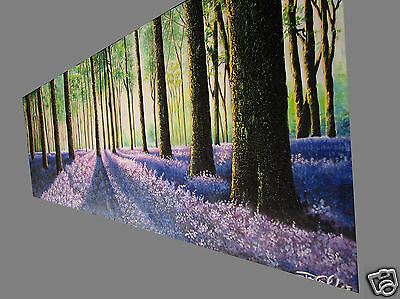 "tree verbena woods forest large canvas art painting landscape 59"" COA By Jane"