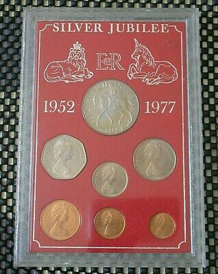 Silver Jubilee British Coin Set.