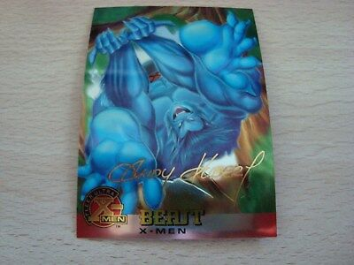 Fleer Ultra X-Men Chromium - Gold Signature - Beast