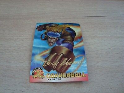 Fleer Ultra X-Men Chromium - Gold Signature - Cannonball