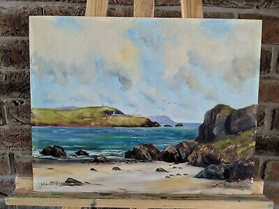 Oil Painting Landscape Countryside Beach Cork Harbour Seascape - Signed
