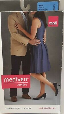 Medi Comfort 15-20 OpenToe Calf Compression Stockings Size III ...FREE SHIPPING