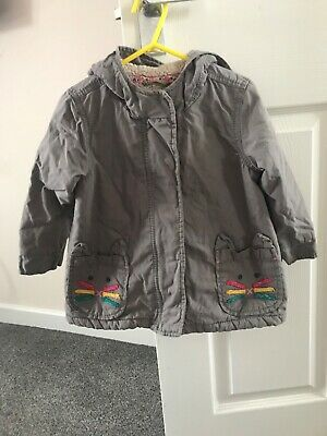 Girls Next Coat 1.5-2 Years 18-24 Grey With Cat Design Excellent Used Condition