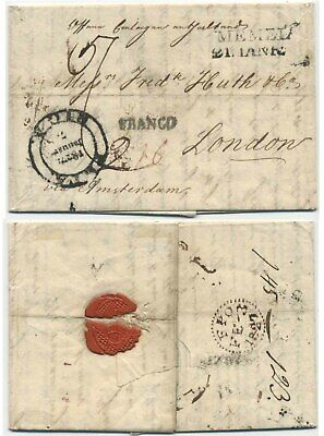 Memel 1827 - Pre-Stamp Cover To London