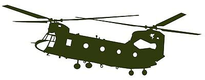 CHINOOK CH-47 HELICOPTER - Adhesive Computer Cut Vinyl Decal, Last over 6 years