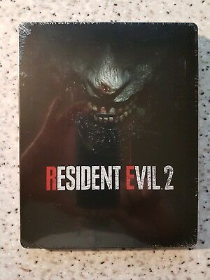 Resident Evil 2 Remake Collectors Steelbook PS4 Xbox PC New Sealed NO GAME Rare