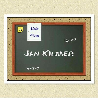 So Cute ~ Personalized Note Cards ~ Great Gift For A Teacher (10 Folded)