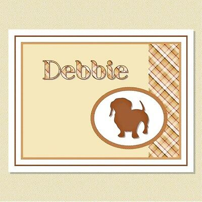 Delightful Dachshund Note Cards ~ Personalized (10 Folded)