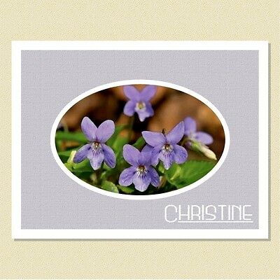 Irresistible Violets ~ Personalized Note Cards (10 Folded)