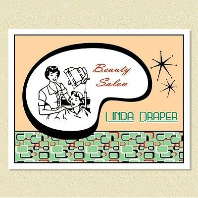 Fun Retro Note Cards For The Hairdresser / Stylist ~ Personalized (10 Folded)
