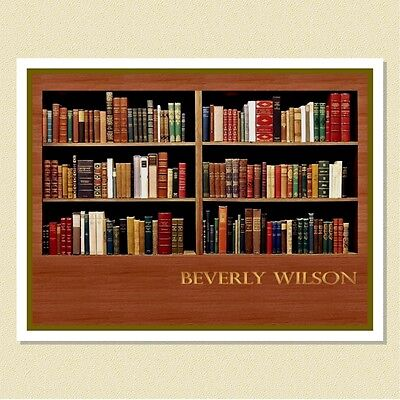 For The Bibliophile ~ Personalized Note Cards (10 Folded)