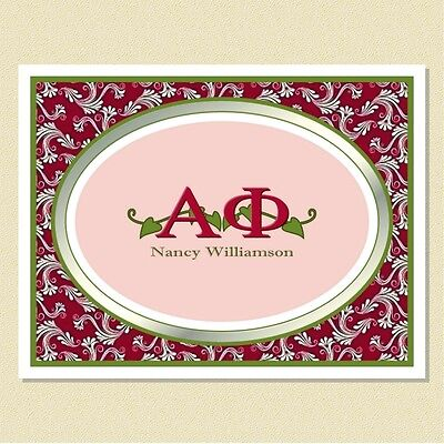 Alpha Phi Sorority ~ Personalized Note Cards (10 Folded)