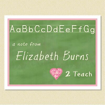 Perfect For Teachers ~ Personalized Note Cards (10 Folded)