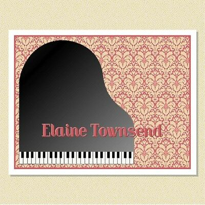 Charming Piano Design ~ Personalized Note Cards (10 Folded)