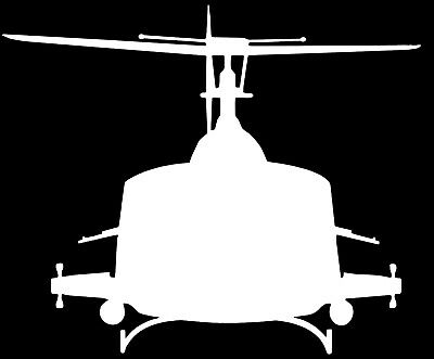 IROQUOIS UH-1 'HUEY' HELICOPTER- Adhesive, Compute Cut Vinyl Decal, Last 6 years