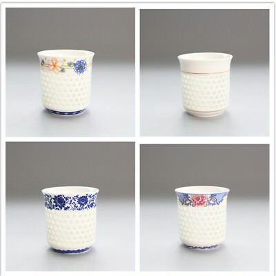 Chinese Jingdezhen Blue and White Porcelain Tea Cup Ceramic Hollowed-out Teacup