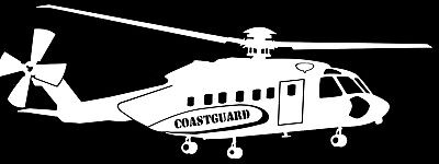 SIKORSKY S-92 COASTGUARD HELICOPTER - Adhesive, Cut Vinyl Decal, Last 6 years!!!