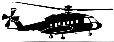 SIKORSKY S-92 HELICOPTER - Adhesive, Computer Cut Vinyl Decal, Last 6 years!!!