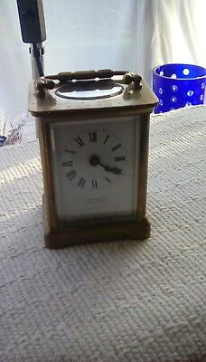 vintage french made carrage clock in case