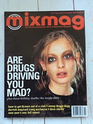 Mixmag Magazine Drugs Ecstacy 1997 Dj Dance Music Collectable Media Studies