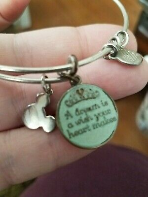 Disney Alex and Ani Cinderella A DREAM IS WISH YOUR HEART MAKES Silver Bracelet