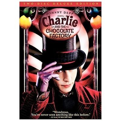 Charlie and the Chocolate Factory (DVD, 2005, 2-Disc Set, Widescreen Deluxe Edi…