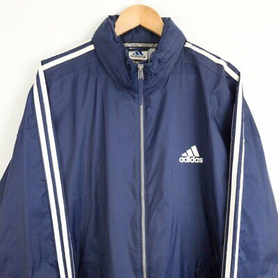 Vintage 90s Adidas windbreaker raincoat - Navy - Mens size 2XL