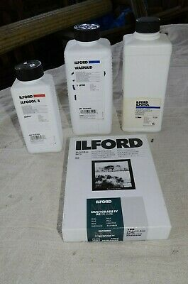 Ilford paper and chemicals.