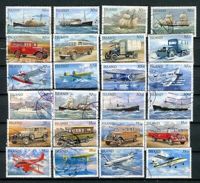 Iceland Fine Lot of Mail Transport Vehicles Stamps Cancelled