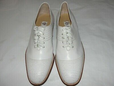 3d4f481d6 New Authentic Gucci Mens White Leather Dress Shoes Oxford Size-10.5M