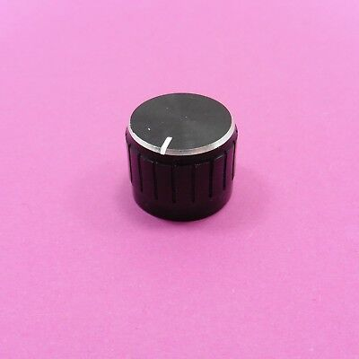 21x17mm Aluminum Potentiometer Knob for 6mm Shaft Control Cap Black Tone
