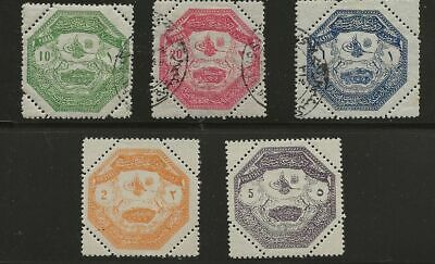 Turkey Sc# M1-5 Mh/ Used Stamps