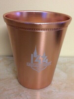 RARE 2018 Kentucky Derby 144 Copper Mint Julep Cup Woodford Reserve Bourbon