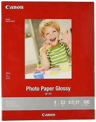 Canon Ink Glossy Photo Paper 8.5x11 100 Sheets Inkjet GP-701