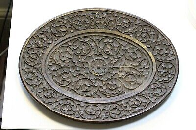 Antique Anglo-Indian Carved Hardwood Oval Plate/Dish.