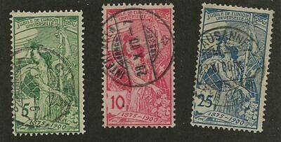 Switzerland Sc# 98-100 Used Stamps # 100 Thin