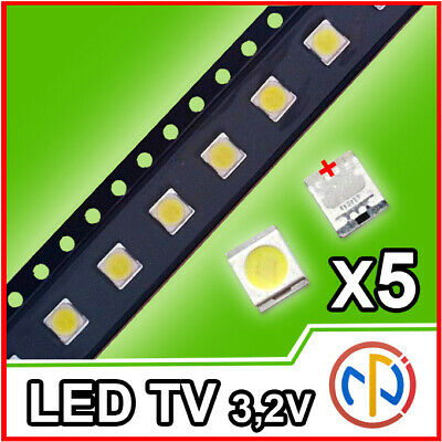 5X Led Retroilluminazione Tv 1W 3,2V 3528 Alta Qualita'