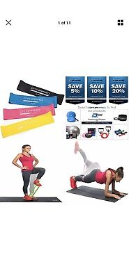 Fitness & Jogging Mini Precision Loop Exercise Bands with E-Quickstar... Ausdauertraining DYNAPRO Resistance Bands