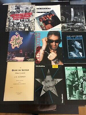 lot livres et partitions rock n roll Rolling Stones,pink floyd ,gainsbourg,otis