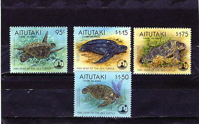AITUTAKI 1995 Sea Turtles/Reptiles set  MINT NH
