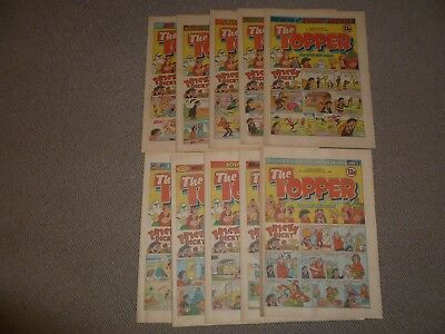 10 x THE TOPPER COMIC JUNE - SEPT 1981