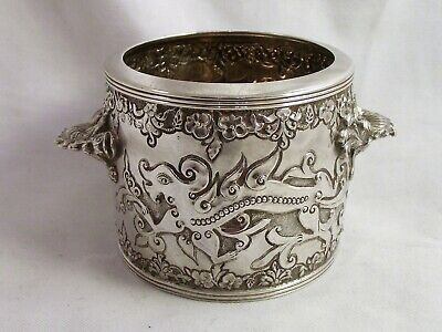 Fine English Silver Chinese Design Bowl - By Richard Martin & Ebenezer Hall 1867