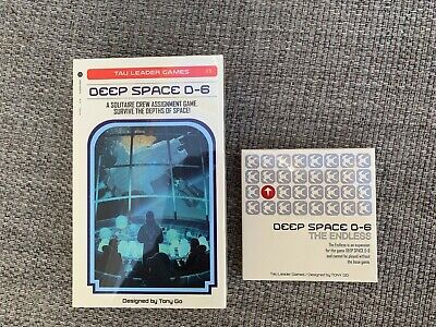 Deep Space D-6 Solitaire Board Game & Expansion. New unopened.