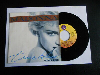 Vinile 45 giri - Madonna - True blue / Holiday - SIRE 928 550-7 France