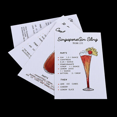 30 Sheets Cocktail Postcard Greeting Card Message Birthday Gift Cards Shan