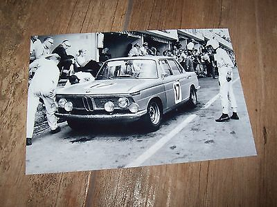 Photo / Photograph  BMW 1800 TI   Ickx / Hahne 24 h Spa Francorchamps 1966 //
